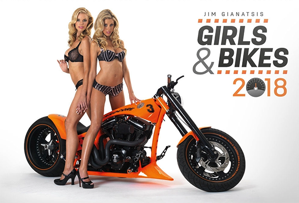 Girls and Bikes Huge 2018 Wall Calendar