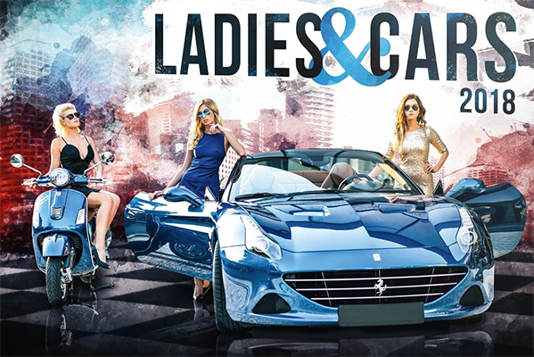 Ladies and Cars Huge 2018 Wall Calendar