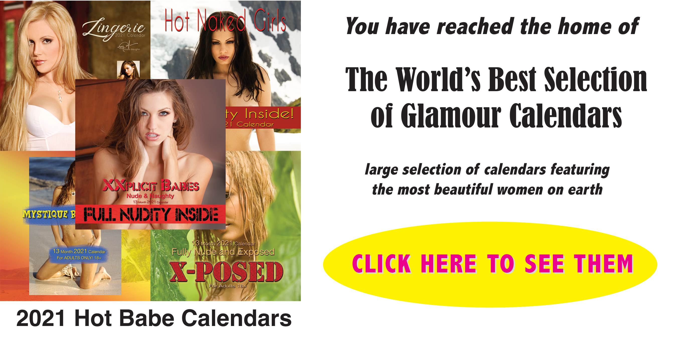 World's Largest Selection of Glamour Calendars